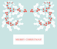 Holly berry card Royalty Free Stock Images