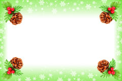 Holly berry Christmas frame Stock Images