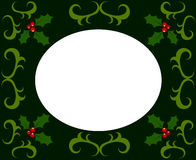 Holly berry Christmas frame Stock Photos