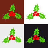 Holly berry. Christmas pattern. Vector background Royalty Free Stock Images