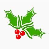 Holly berry. Christmas symbol. Vector illustration stock illustration
