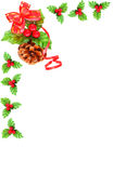 Holly berry Cristmas border Stock Photos