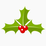 Holly berry. Icon. Christmas symbol vector illustration Stock Photos