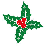 Holly berry icon. Royalty Free Stock Photography
