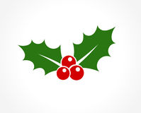 Holly berry icon Royalty Free Stock Images