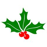 Holly berry icon Stock Images