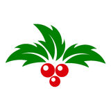 Holly berry. Icon. vector illustration Stock Image