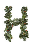 Holly With Berry Letter H Stock Photo