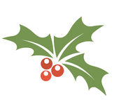 Holly berry symbol Stock Images