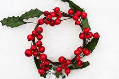 Holly Berry Wreath Stock Image