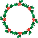 Holly berry wreath Royalty Free Stock Photos