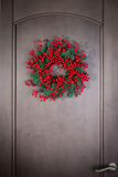 Holly berry wreath Royalty Free Stock Image