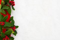 Holly border Royalty Free Stock Photography