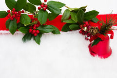 Holly border Stock Images