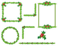 Holly border frames Stock Image