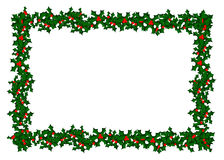 Holly Border Pattern Royalty Free Stock Images