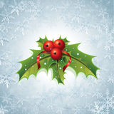 Holly Christmas Background Illustration de Vecteur