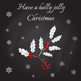 Holly Christmas Background Illustration Libre de Droits