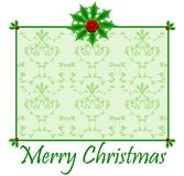 Holly Christmas Card Royalty Free Stock Photography