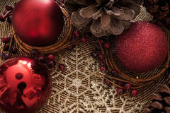 Holly Christmas-decoratie royalty-vrije stock afbeelding