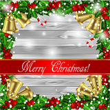 Holly Christmas frame Royalty Free Stock Photos