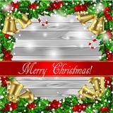 Holly Christmas frame Royalty Free Stock Photos