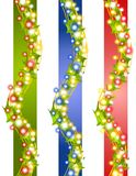Holly Christmas Lights Borders Stock Image