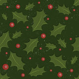 Holly Christmas pattern Royalty Free Stock Photos