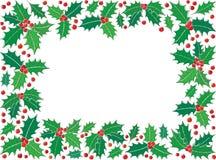 Holly Christmas-Symbolrechteckrahmen stock abbildung