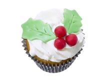 Holly cupcake Royalty Free Stock Photo