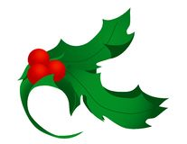Holly Decoration Royalty Free Stock Photos