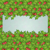 Holly decorations for Christmas Stock Image
