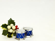 Holly and drums Royalty Free Stock Image