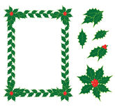 Holly elements Royalty Free Stock Photo