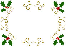 Holly frame Royalty Free Stock Photos