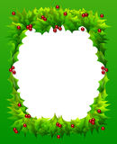 Holly Frame Stock Image