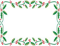 Holly Frame Royalty Free Stock Photography