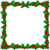 Holly with frame Royalty Free Stock Photo