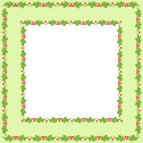 Holly frame Royalty Free Stock Photo