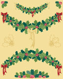 Holly garland Royalty Free Stock Photo