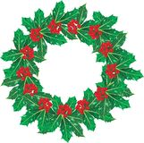 Holly garland Royalty Free Stock Images