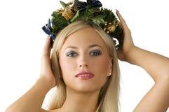 Holly girl Stock Photo