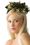 Holly girl Royalty Free Stock Photography