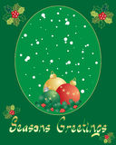 Holly greeting card Stock Images