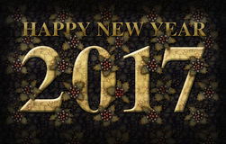 Holly Happy New Year 2017 Stock Images