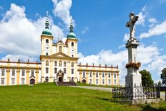 Holly Hill, The Church of the Visitation of the Virgin Mary, town Olomouc, Czech republic. CZECH REPUBLIC, SVATY KOPECEK - MAY 9, 2016: Holly Hill, The Church Royalty Free Stock Images