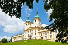 Holly Hill, The Church of the Visitation of the Virgin Mary, town Olomouc, Czech republic. In 1995 visited by the Pope Jan Paul II. CZECH REPUBLIC, SVATY KOPECEK Stock Image