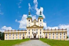 Holly Hill, a igreja da visitação da Virgem Maria, cidade Olomouc, república checa Visitado em 1995 pelo papa Jan Paul II fotos de stock royalty free