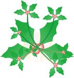 Holly Ivy Christmas Card Image Stock Photography