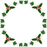 Holly and ivy yule frame. Illustration Royalty Free Stock Photography